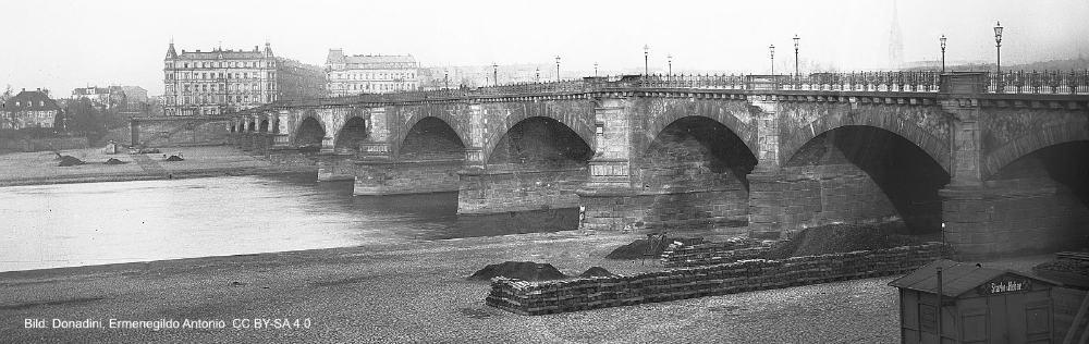 Albertbrücke um 1890